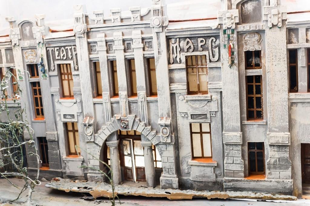 Вот такая модель первого фасада кинотеатра Марс хранится в Армавирском музее.jpg
